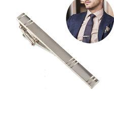 Formal Men's Alloy Metal Fashion Silver Simple Necktie Tie Pin Bar Clasp Clip