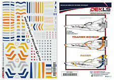Decals - 1/72 Colonial Viper - Custom Colours PACK 1 - Hundreds of combinations
