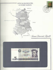 Banknotes of Every Nation GDR East Germany 1975 5 Mark UNC P 27a UA630802