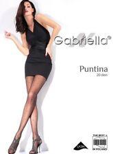 GABRIELLA PUNTINA POLKA DOT PANTYHOSE TIGHTS BLACK ON BLACK 3 SIZES