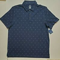 George Mens Navy Jersey Polo Block Design S/S Work Golf Button Shirt XL NWT FAST