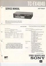 SONY Service Manual Konvolut TC-FX2020/3030/4040 - B2048