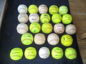 Lot of 24 Game Used Softballs