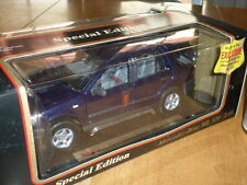 1997 MERCEDES-BENZ ML 320 SUV, DK BLUE, Die Cast Metal Model Toy SUV, SCALE 1/18