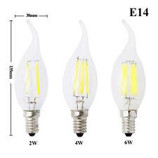 Dimmable E27 E14 2W 4W  6W 8W LED Filament Light Vintage Candle/Globe Bulb White