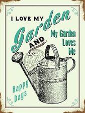 Plaques, panneaux et enseignes en métal pour la décoration du Jardin
