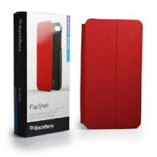 Genuino original BlackBerry Z10 Rojo Flip Shell Funda con soporte de visualización