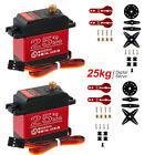 2x 25KG Metal Steering Digital Waterproof Servo High Torque DS3225MG for RC Car