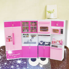 Cute Kitchen Pretend Play Cooking Set Cabinet Stove Toy Gift for Kids Children