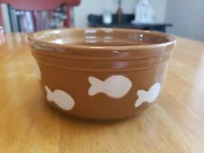"Whisker City Cat Bowl Matte Fish 2.5""×5.5"" 16 oz."