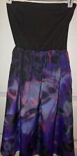 Bar111 Women's sz XS Purple lined sleeveless tube top cruise/cover-up dress EUC