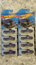2020 HOT WHEELS #201/250 '52 CHEVY PICKUP #3/10 ROD SQUAD BLUE RUST - Lot Of 8