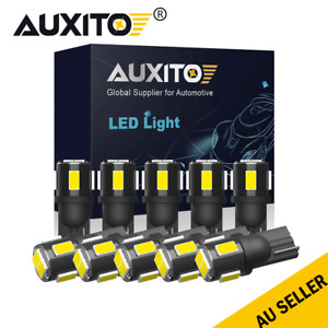 AUXITO Canbus LED License Plate Light Bulbs 168 194 T10 White 6000K 10x Lamp New
