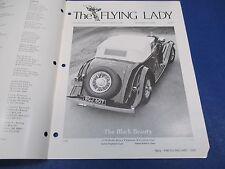 The Flying Lady Rolls-Royce Magazine Sept-Oct 1982, 1934 Phantom II Continental