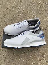 FootJoy Pro SL Golf Shoes White/blue/grey Men's Size 13 Wide Waterproof Leather