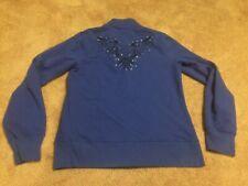 Harley Davidson Women's Blue Bedazzled Full Zip Jacket Size Med. EUC