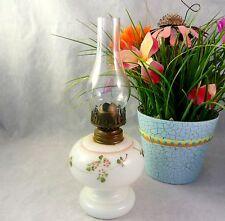 Antique Miniature Milk Glass Oil Lamp Dithridge NELLIE BLY