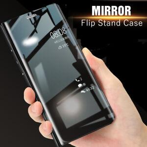 CUSTODIA Samsung Galaxy S8 S9 S10 PLUS S7 Edge Flip Case Clear View Stand COVER