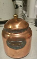 beautiful copper coffee container