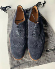 Paul Smith PS Blue Suede Brogues Shoes -Size UK 8  BNIB