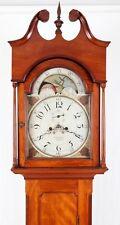 1810 Cherry Tall Case Grandfather Clock William J. Leslie Trenton NJ