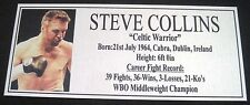 Boxing STEVE COLLINS Silver new Photo  Free Postage
