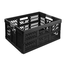 Stabile Profi Klappbox 45L 54x37x28 Einkaufskiste klappbar Soft-Griffe Schwarz