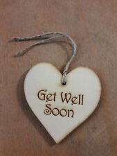 Handmade Wooden Gift Tags - Get Well Soon