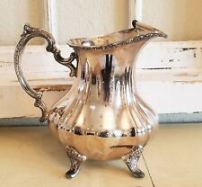 Vintage Towel silverplate Tea or Water Pitcher NO DINGS coffee Victorian ORNATE