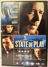 State of Play (DVD, 2009) Russell Crowe Ben Affleck Rachel McAdams Helen Mirren