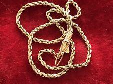 """14k Gold Anklet Ankle Bracelet Rope 1.5mm  9"""" 2 grams"""