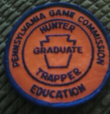 PENNSYLVANIA GAME COMMISSION EDUCATION HUNTER TRAPPER PATCH