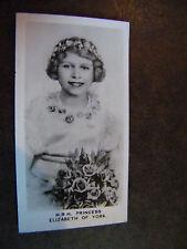 CHAIRMAN JUNIORS TABACCO CARD NO. 4 H. R.H. PRINCESS ELIZABETH R. J.  LEA LTD.