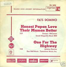 "FATS DOMINO HONESTO PAPAS LOVE THEIR MAMAS 7"" PROMO 2236"
