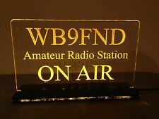 Multi Colors 12v Custom Engraved LED Ham Shack Amateur Radio Call Sign Plaque