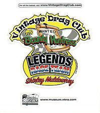 Drag Racing NHRA Decal Sticker Shirley Muldowney The Bounty Huntress