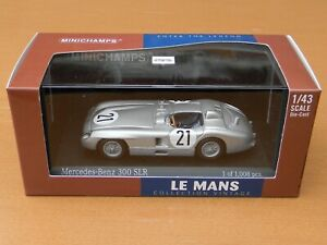 Minichamps 432 553021 Mercedes-Benz 300 SLR Le Mans 1955 No. 21 1:43 MIB