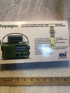 Kaito Voyager KA500 Solar & Crank Weather Alert Multiband Radio AM/FM/SW1/SW2