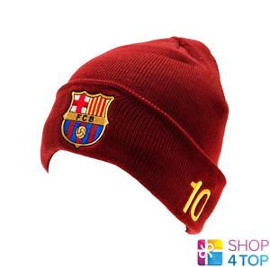 FC BARCELONA BEANIE HAT CAP MESSI 10 BARCA OFFICIAL FOOTBALL SOCCER TEAM FAN NEW