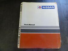 Nissan WCN-30-TTH Forklift Parts Manual