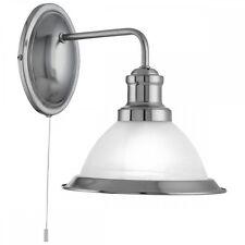 Searchlight Bistro Retro Wall Light in Satin Silver Finish 1481Ss