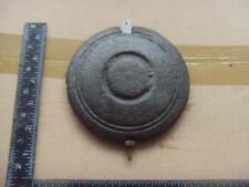 16562#13    old Cast iron, long case  clock pendulum bob and slider