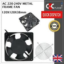 120x120x38mm 120mm 12 cm  Metal Frame Axial Flow Cooling Fan AC 220/240V UK SELL