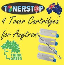 4x ANYTRON 001 and 002 LABEL PRESS PRINTER TONER CARTRIDGES