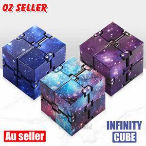 Plastic Infinity Cube Puzzle Fidget Flip Finger Sensory Unique Stress Relief Toy
