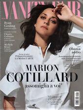 MARION COTILLARD NEW SEALED VANITY FAIR MAGAZINE ITALY JANUARY 2017 RYAN GOSLING