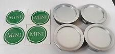 CLASSIC MINI GREEN 'MINI' WHEEL CENTRE CAPS ROVER MINILITE SPORTSPACK COOPER 3S8