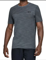 Under Armour Mens Activewear Gray/Blue Large L Ventilated S/S Vanish Tee