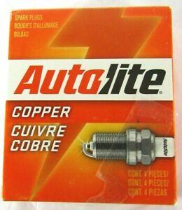 Autolite Copper Core Spark Plugs - MPN 437 - (4) Four Spark Plugs Bujias Bougies