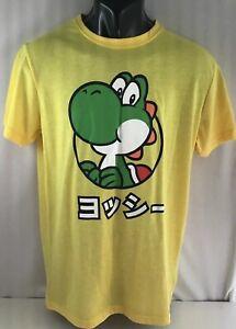 Yoshi T-shirt Nintendo Official Super Mario Short Sleeve Yellow Size Medium NWT